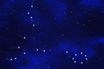 """Star-field background of zodiacal symbol """"Pisces"""""""