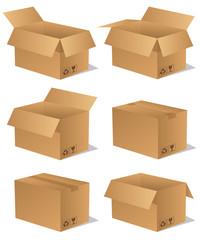 Paket Päckchen Lieferung Box Karton Set 13