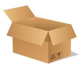 Paket Päckchen Lieferung Box Karton braun 1