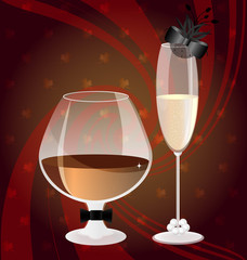 cognac and champange