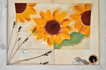 gemalte Sonnenblumen Bild