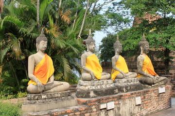 Seating Buddha image in Ayutthaya, Thailand