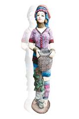 Statue Tribe women.