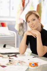 Fashion designer thinking