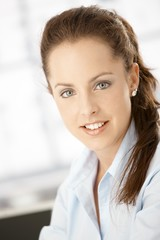 Portrait of attractive woman smiling