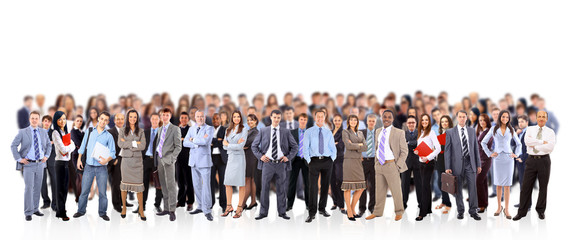 big group of business people. Isolated over white Wall mural