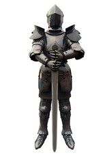Fifteenth Century Medieval Knight with Sword