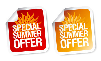 Summer offer stickers.