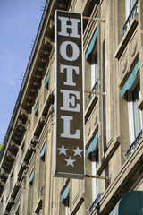Parisian hotel sign