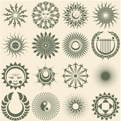 Design elements on the basis of a circle