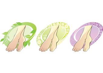 Female feet spa aromatherapy
