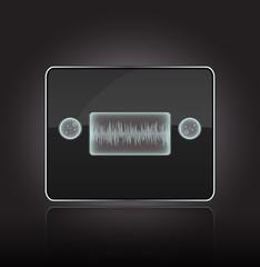 Vector futuristic sensitive audio player