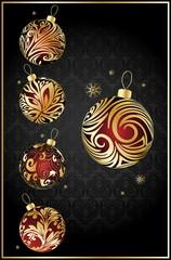vector different christmas balls