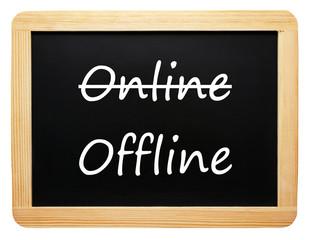 Online / Offline - Business Concept