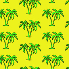 Seamless palm tree  pattern