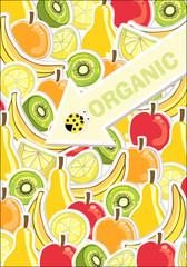 background with fresh fruit