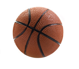 Basket ball isolated on white  with space for text