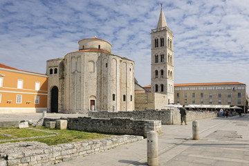 St Donat church and bell tower of St Anastasia Cathedral in Zada