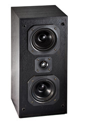 The black hi-fi sound speakers