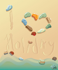 summer holiday postcard from seaside