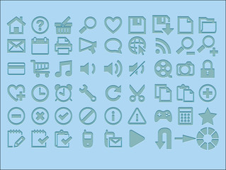 Popular icons on the web vector