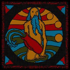 Aquarius horoscope woodcut