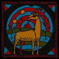 Capricorn horoscope woodcut