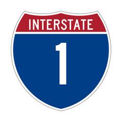 Interstate Highway 1 sign