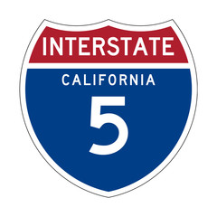 California Interstate Highway sign