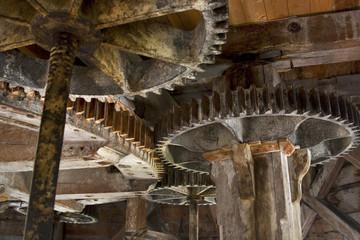 zahnräder in einer widmühle