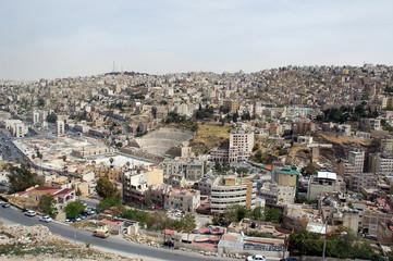 Vue depuis la citadelle d'Amman
