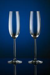 Glass of wine in studio
