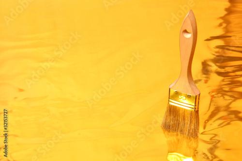 peinture dor e photo libre de droits sur la banque d. Black Bedroom Furniture Sets. Home Design Ideas