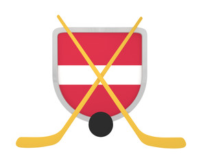 Latvia shield ice hockey isolated