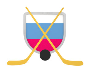 Slovakia shield ice hockey isolated