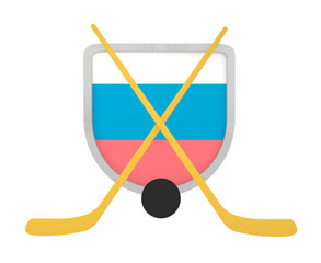 Slovenia shield ice hockey isolated