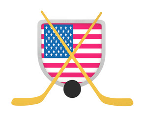 USA shield ice hockey isolated