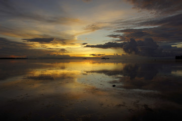 Sea sunset. Borneo.