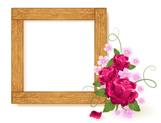 Design wooden photo frames