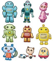 Door stickers Monster cartoon robot icon set