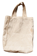 Old brown cotton bag