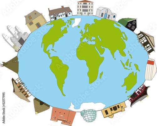 Types de maisons dans le monde fichier vectoriel libre for Maison dans le monde