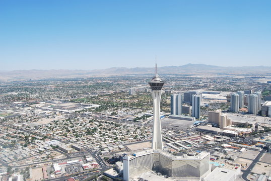 Stratosphere, Las Vegas, from above