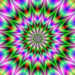 Wall Murals Psychedelic Psychedelic Star Burst
