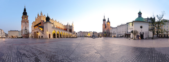 Fotorollo Krakau City square in Kraków, Poland