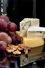 Cheese, grapes and nuts