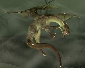 Papiers peints Dragons Green Swamp Dragon