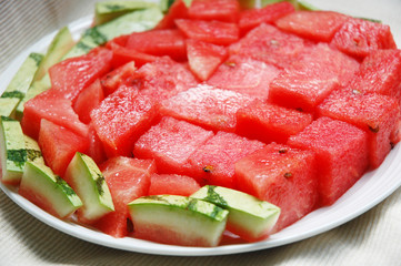 image of watermelon on plate