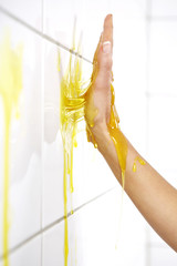 Yellow jelly on hand