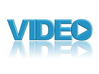 """VIDEO"" Web Icon (play watch video media player button 3d image)"